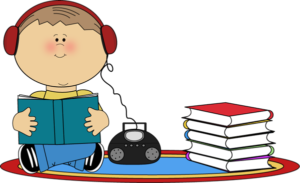 Photo credit, with appreciation to: http://www.mycutegraphics.com/graphics/reading/boy-listening-to-book-cd-player.html